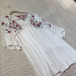 Altar'd state mini white and floral dress